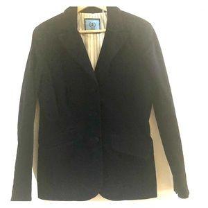 Izod Velvet Navy Blue Blazer 6 Classic Jacket